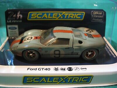 Scalextric Ltd Edition  C4104 Ford Gt40 1968 #9 Gulf  Weathered Effect Special  • 45£