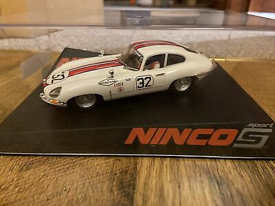 Ninco Sport Jaguar E-type Coupe Sebring White No 32 Ref 50596 Bnib. • 35£