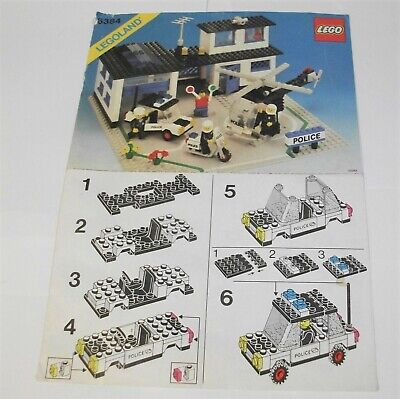 Lego Town #6384 Police Station INSTRUCTIONS ONLY (1983) • 9.95£