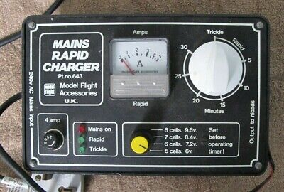 Mains Rapid Charger By Model Flight Accessories, UK. Part NR:643 • 5£