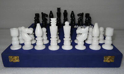 04 Inches Marble Chess Coins Black And White Game Coins Best For Chess Table Top • 229.88£