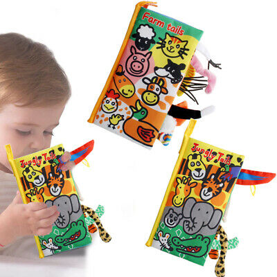 Animal Tails Cloth Book Baby Toy Cloth Development Books Educational Toy Gift • 4.99£
