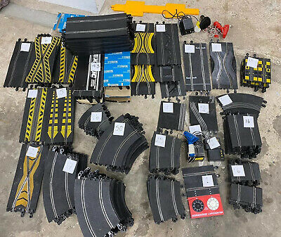 Vintage Scalextric Set Approx 217 Pieces-mixed Track, Junctions,curves&controls • 19.99£