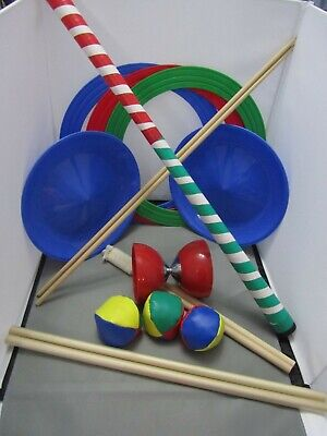 Juggling Set - Includes Balls, Spinning Plates, Diablo, Rings & Devil Sticks • 20£