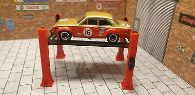 4 Post Ramp For 1:43 Scale Model Cars Garage Diorama 3d Printed. • 13.50£