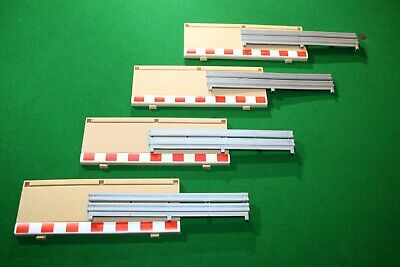 Scalextric 4 X C8223 Half Straight Borders Barriers Armco Good Condition • 9.99£