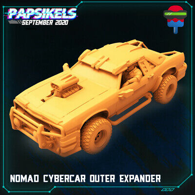 Cyberpunk Miniture  NOMAD CYBER CAR OUTER EXPANDER 32mm Scale Wargame Scif Model • 24.95£