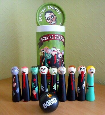 Bowling Zombies Tabletop Bowling Game - Zombie Apocalypse Fun • 12.85£