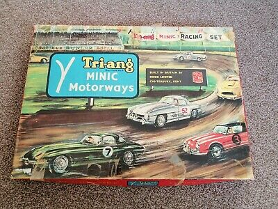 Triang MINIC Motorways Vintage Racing Set Game M/1521 - 1960s - Rare & Complete! • 97.50£
