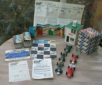 Vintage Scalextric Cars Boxes Leaflets Tower Etc • 32£