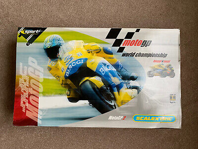 SCALEXTRIC MotoGP World Championship BIAGGI Vs ROSSI MotoGP2 Scale 1:18 - MINT! • 20£
