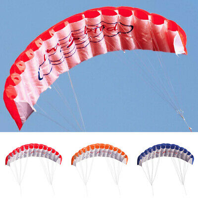 Outdoor* Toy Dual Line Parafoil Parachute Stunt Sport Beach Red Kite Adults Kids • 14.89£