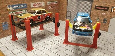4 Post Ramp & 2 Post Lift For 1:43 Scale Models Cars Garage Diorama 3d Printed. • 17£