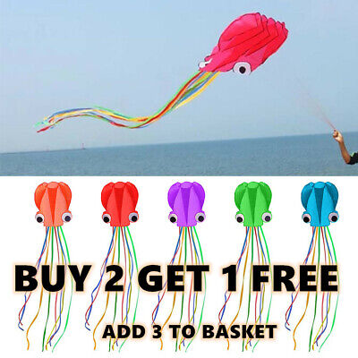 For Kids And Adults Large Octopus Kite Easy To Fly 100-meter Handle With Line • 10.69£