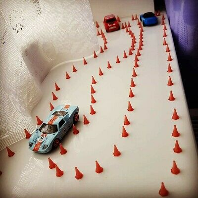 50x 1:64 Stackable Traffic Cones For Hot Wheels And Matchbox Car Dioramas • 9.99£