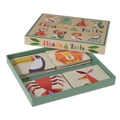 Wild Animals Puzzle - Heads & Tails Game - Stocking Filler -  • 8.50£