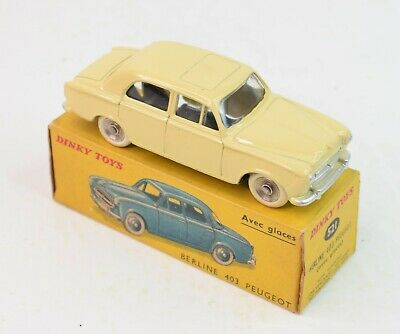 French Dinky Toys 521 Peugeot Berline Virtually Mint/Boxed (With Windows) • 295£