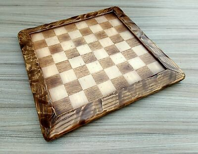 Wooden Handmade Quirky One Off Oak Ash & Beech Chess Board With 4cm Squares • 41£