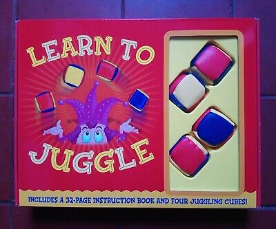 Learn To Juggle Book And Four Cubes Juggling Gift Set • 6.99£