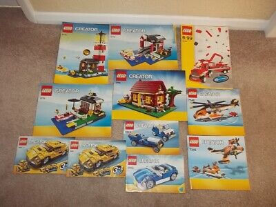 Lego !!  Instructions Only !! For  Creator ----  Job Lot • 3.50£
