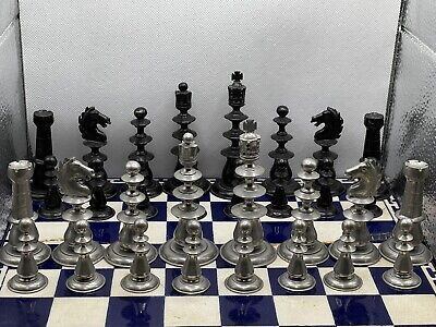 Vintage Studio Anne Carlton (sac) Classic Metal Chess Set. One Of The First Made • 300£