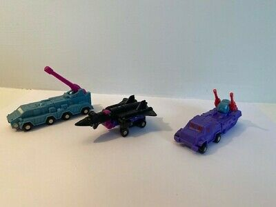 Vintage Hasbro G1 Transformers Micromasters BATTLE Squad (1990) Complete, VGC • 9.99£