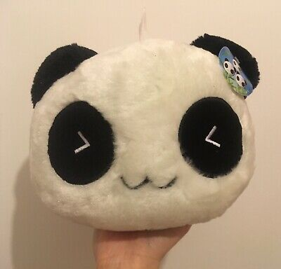 Kawaii Large Head Panda With Red Scarf Cute Soft Plushie Japanese Style • 15£