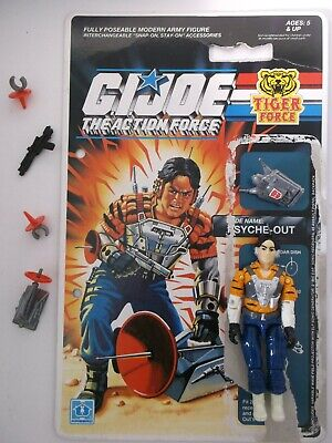 Vintage Action Force G I Joe 'psyche-out' Action Figure + Accessories + File Car • 60£