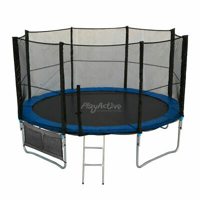 Trampoline 6FT 8FT 10FT 12FT 14FT 16FT & Safety Net Enclosure Ladder Rain Cover • 229.99£