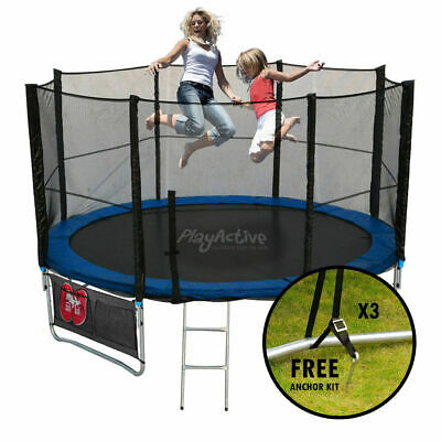 Trampoline 14FT With FREE Rain Cover, Ladder, Safety Net Enclosure, + Shoe Bag • 219.99£