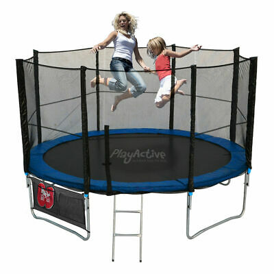 Trampoline 10FT With FREE Rain Cover, Ladder, Safety Net Enclosure, + Shoe Bag • 149.99£