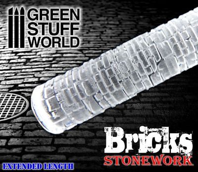 Rolling Pin - BRICKS Texture - Create Your Own Bases - Ininity, Warhammer ... • 12.50£