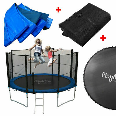 Trampoline Sring Cover Jump Mat Net Enclosure Rain Cover  Anchor Kit + Springs • 49.99£