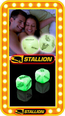 Glow In The Dark Sex Dice Adult Love Aid Game Kama Sutra Hen Stag Night Pinata • 1.99£