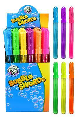 24 X Large Bubble Swords 36cm Wands Outdoor Party Summer Toys Fillers • 12.99£
