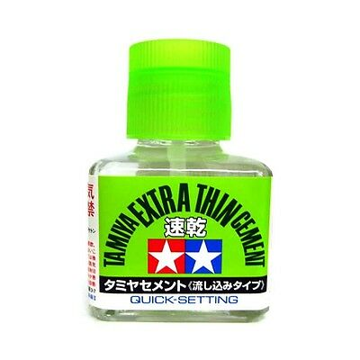 Tamiya Extra Thin Liquid Cement Adhesive Quick Set Plastic Hobby Kits 40ml 87182 • 6.15£