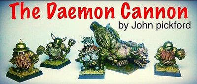 The Daemon Ass Cannon With Chaos Dwarf Crew Warhammer Oldhammer Metal • 38£