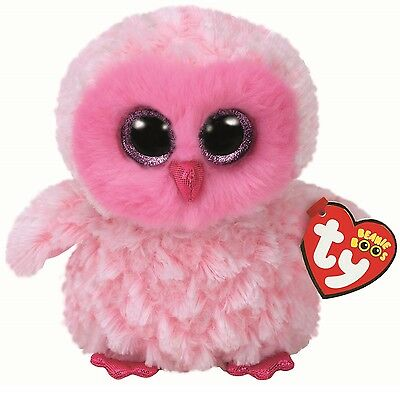 Ty Beanie Boos 36846 Twiggy The Pink Owl Boo Regular • 7.50£