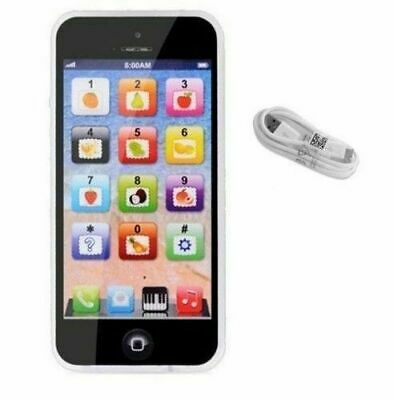 Toy Phone BLACK Smart Phone Baby Children's Educational Learning Kids Iphone USB • 5.99£