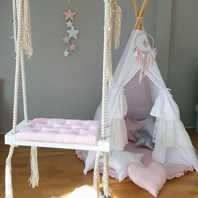 Babyuniquecorn Handmade Wooden Indoor Swing Pink • 126.99£
