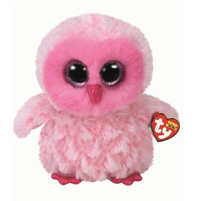 Ty Beanie Boos 36858 Twiggy The Pink Owl Boo Large • 29.95£