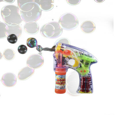 Light Up Flashing Bubble Gun Sensory Toy • 6.95£