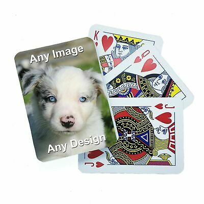 Personalised Playing Cards, Printed With Your Image On The Back, Perfect Gifts • 9.99£