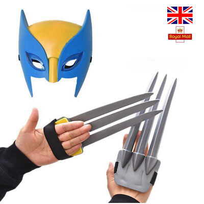 LED Wolverine Claws X-men Hero Cosplay Action Weapons Mask Children Toys Gifts • 13.45£