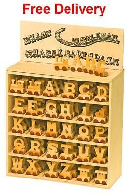 Personalised Wooden Name Train : Use Wooden Letters To Spell A Personalised Name • 7.50£