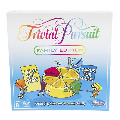 Trivial Pursuit Family Edition Board Game Hasbro • 28.99£