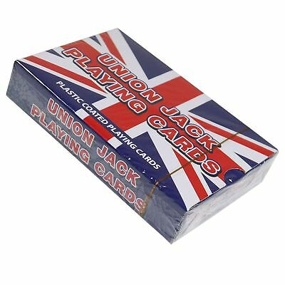 2 Packs Of UNION JACK PLAYING CARDS Party Poker Bridge Game Toy • 2.99£