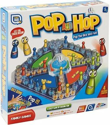 Childrens Kids Family Popping Dice Pop And Hop Ludo Classic Board Game Toys • 6.89£