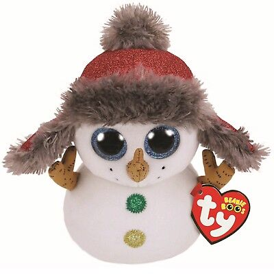 Ty Beanie Boos 36219 Buttons The Snowman With Hat Christmas Boo Regular • 7.50£
