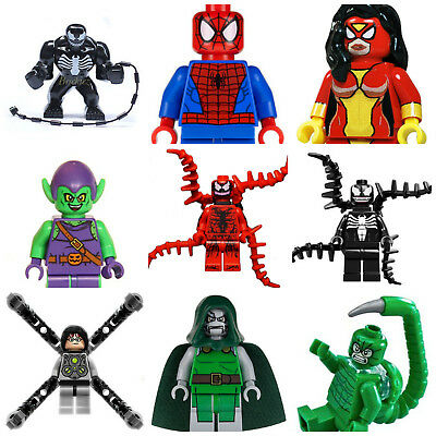 Spiderman Venom Carnage Mysterio Deadpool Marvel Super Hero Goblin Mini Figures  • 6.99£
